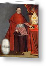 Bartholomew Fabro Y Palacios - Bishop Of Huamanga  Greeting Card