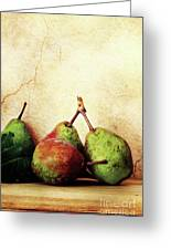 Bartlett Pears Greeting Card by Stephanie Frey
