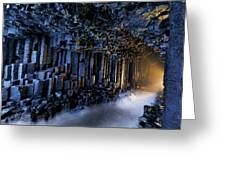 Basalt Pillars Line Fingals Cave Greeting Card