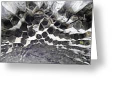 Basalt Rock Columns Formations Greeting Card