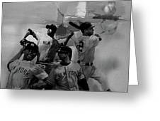 Base Ball Players Greeting Card