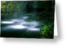 Base Of Waterfall Greeting Card