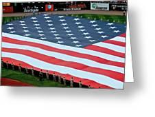 baseball all-star game American flag Greeting Card
