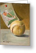 Baseball And Card Greeting Card