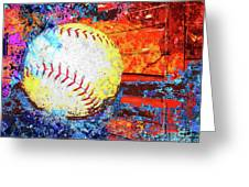 Baseball Art Version 6 Greeting Card