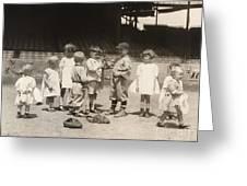 Baseball: Boys And Girls Greeting Card by Granger