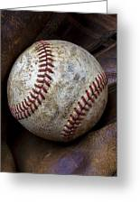 Baseball Close Up Greeting Card
