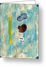 Baseball Dreams Greeting Card by Rosemary Mazzulla