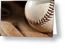 Baseball Greeting Card by Felix M Cobos