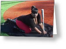 Baseball Girl 3 Greeting Card