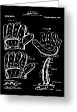 Baseball Glove Patent 1910 In Black Greeting Card