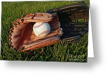 Baseball Gloves After The Game Greeting Card