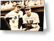 Baseball Heroes Greeting Card by Reproduction