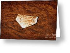 Baseball Homeplate In Brown Dirt For Sports American Past Time Greeting Card