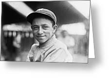 Baseball Mascot Eddie Bennett Greeting Card