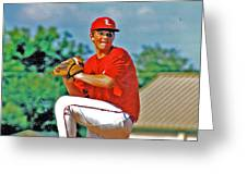Baseball Pitcher Greeting Card