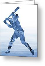 Baseball Player-blue Greeting Card