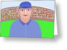 Baseball Star Portrait Greeting Card