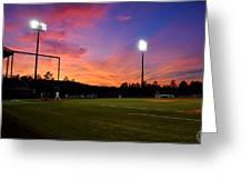 Baseball Sunset Greeting Card
