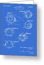 Baseball Training Device Patent 1961 Blueprint Greeting Card