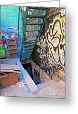 Basement Apartment In Graffiti Alley Greeting Card
