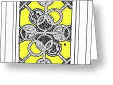 Bases Are Loaded Yellow Greeting Card