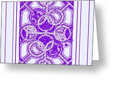 Bases Loaded In Purple Greeting Card
