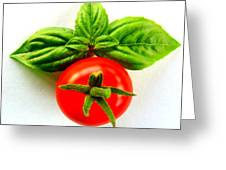 Basil And Cherry Tomato Greeting Card