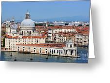 Basilica Della Salute And Punta Della Dogana In Venice Italy Greeting Card