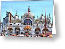 Basilica Di San Marco Greeting Card by Sarah E Ethridge