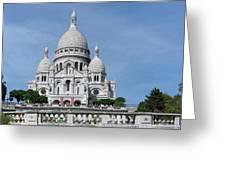 Basilica Du Sacre-coeur De Montmartre Greeting Card