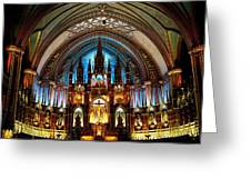 Notre - Dame Basilica - Montreal Greeting Card