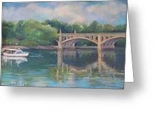 Basiliere Bridge Haverhill Ma Greeting Card