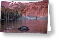 Basin Lake Sunrise 2 Greeting Card
