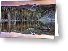 Basin Lake Sunset Greeting Card