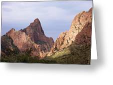 Basin View Big Bend Texas  Greeting Card