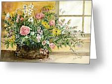 Basket Bouquet Greeting Card