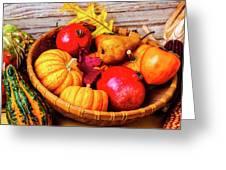 Basket Full Of Autumn Greeting Card