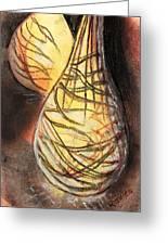 Basket Light Yellow Glow Greeting Card