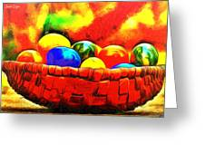 Basket Of Eggs - Pa Greeting Card