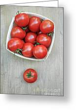 Basket Of Fresh Red Tomatoes Greeting Card