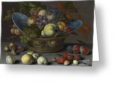 Basket Of Fruits Greeting Card