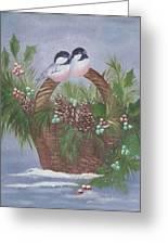 Basket Of Pine Greeting Card