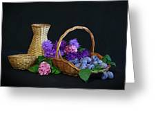 Basket With Astern Greeting Card