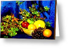 Basket With Fruit Greeting Card