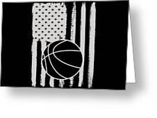 Basketball American Flag Usa Apparel Greeting Card