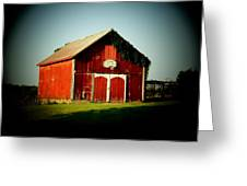 Basketball Barn Greeting Card by Michael L Kimble