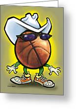 Basketball Cowboy Greeting Card