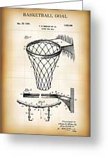 Basketball Goal Patent 1924 Greeting Card