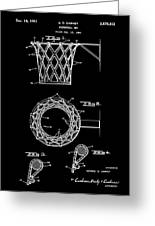 Basketball Net Patent 1951 In Black Greeting Card